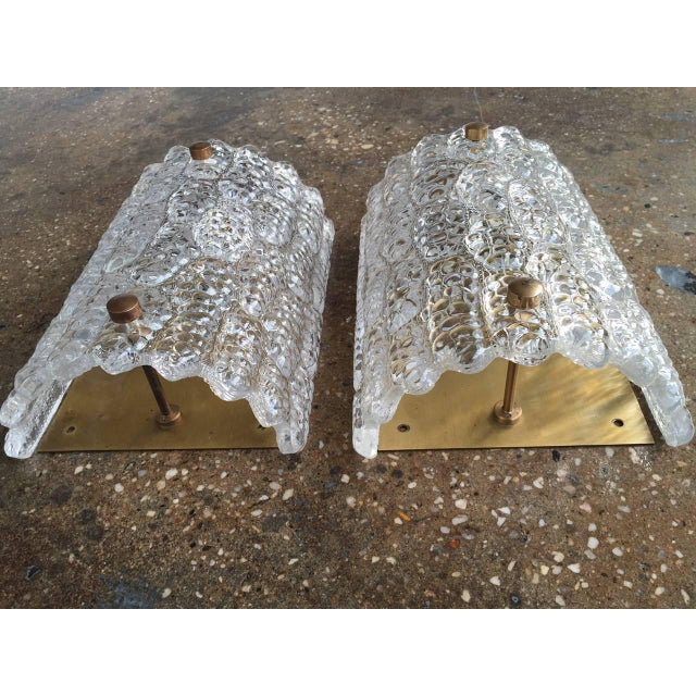 Orrefors Large Sconces by Orrefors - a Pair For Sale - Image 4 of 5