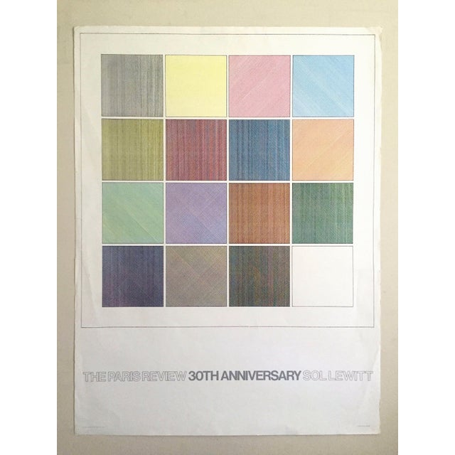 """Sol Lewitt Rare Vintage 1984 """"Paris Review 30th Anniversary"""" Original Silkscreen Print Limited Edition Poster For Sale - Image 13 of 13"""