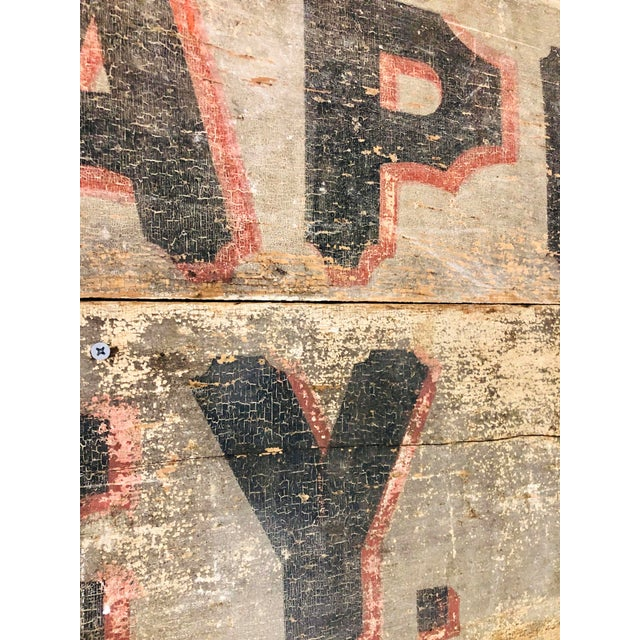 Late 1800s Photography Trade Sign For Sale - Image 6 of 10