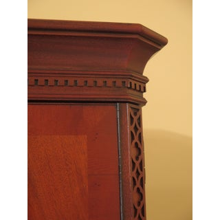 1990s Chippendale Hickory Chair Co Mahogany Bedroom Armoire Preview