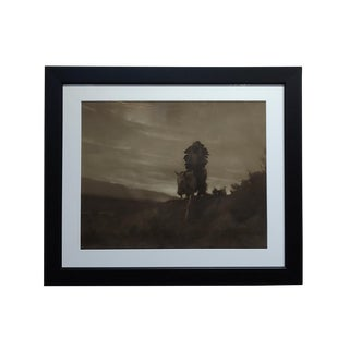 1910s Country Photograph, Indian Chief on Horse by Karl Moon For Sale