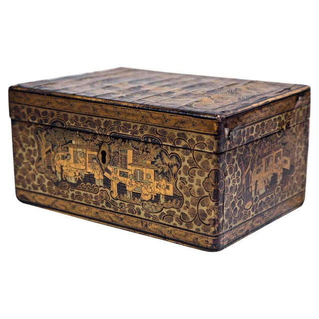 19th Century Chinoiserie Antique Humidor Jewelry Box For Sale - Image 12 of 12