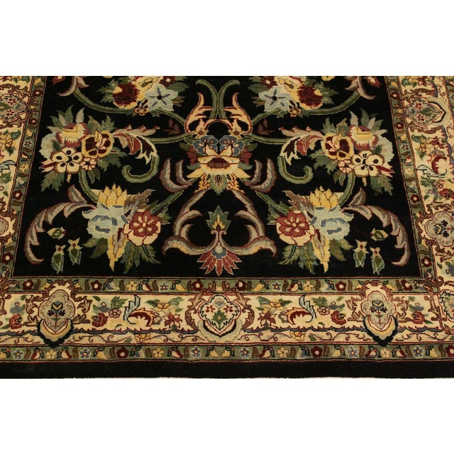 2010s Anarkali Pak-Persian Eleanore Black/Ivory Wool Rug - 4'1 X 6'3 For Sale - Image 5 of 8