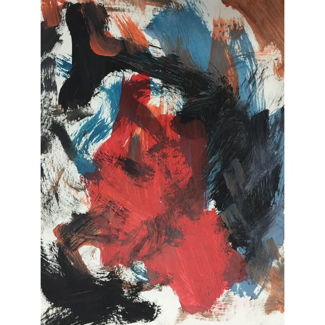 Mid-Century 1950 Modernist Abstract Painting - Image 5 of 5