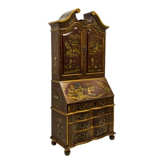 Maitland-Smith Chinoiserie Painted Secretary Desk For Sale
