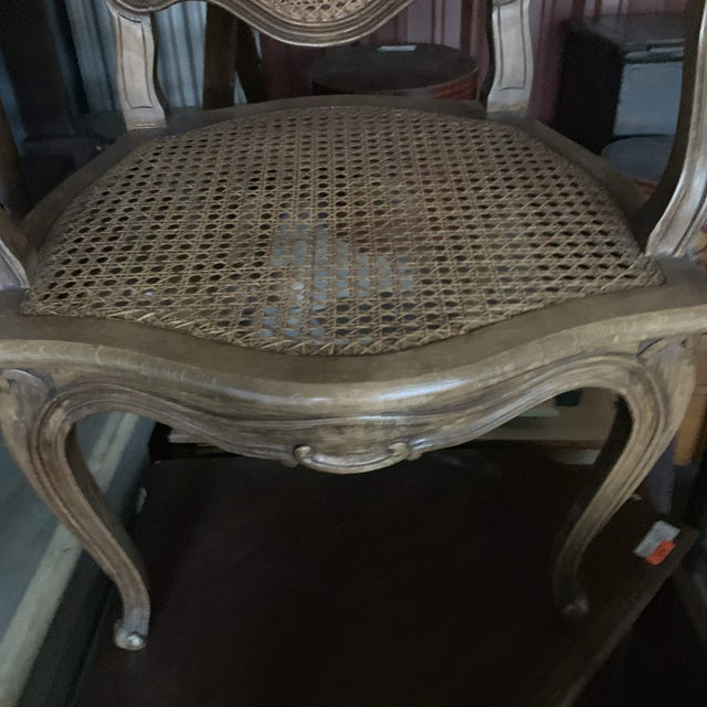 Early 20th Century French Louis XV Style Walnut Caned Fauteuils- a Pair For Sale - Image 12 of 13