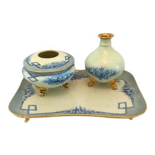 Antique Limoges I&v Austria Porcelain Vanity Set - 3 Pieces For Sale