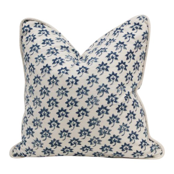 Les Indiennes Fabric Pillow Cover For Sale