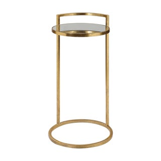 Regency Round Gold Drink Table For Sale