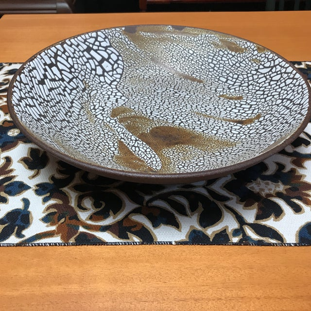 Tan Contemporary Lizard Skin Bowl For Sale - Image 8 of 8