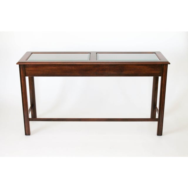 Drexel Heritage Console or Sofa Table W/ Benches - 3 Pc. Set For Sale In Milwaukee - Image 6 of 11