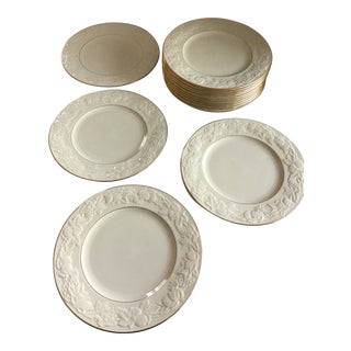 Late 20th Century Lenox Fruits of Life China Dinner Plates - Set of 14 For Sale