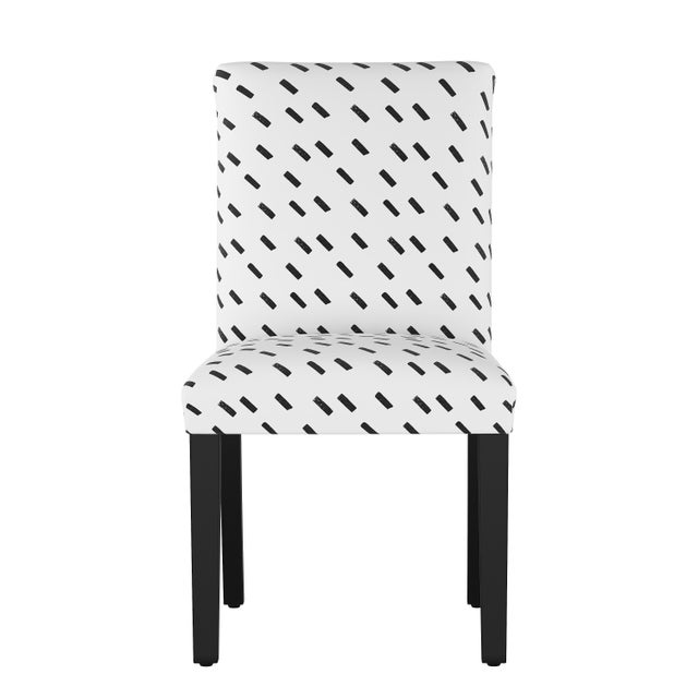 Textile Dining Chair in Charcoal Dash White Oga For Sale - Image 7 of 7