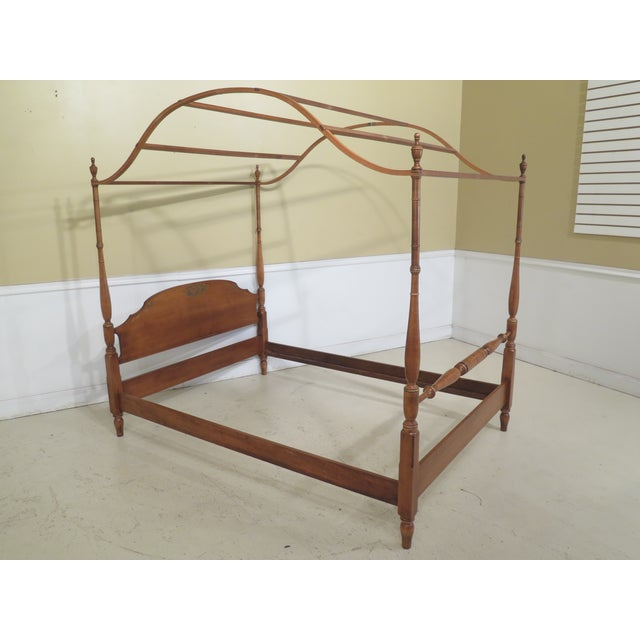Brown 1980s Vintage Hitchcock Full or Double Size Poster Bed For Sale - Image 8 of 11