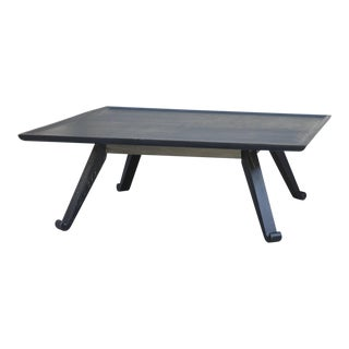 Chic Ebonized Square Coffee Table by Paul Frankl for Brown Saltman For Sale