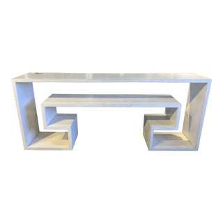Modern White Key Console Table