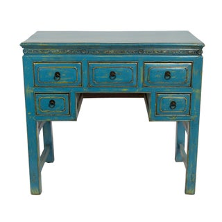 Antique 5 Drawer Writing Desk For Sale
