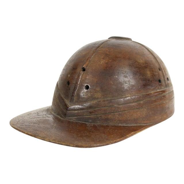 Wooden Jockey Cap Figure - Image 1 of 5
