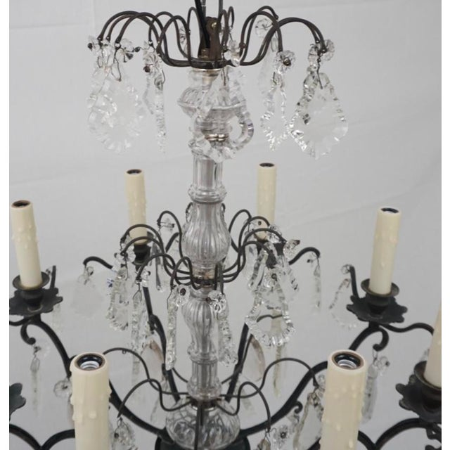 1940s 19th Century Crystal Chandelier For Sale - Image 5 of 6