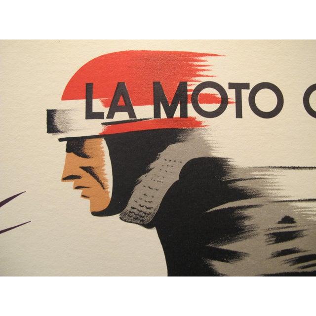 Art Deco 1940s Belgian Art Deco Motorcycle Poster For Sale - Image 3 of 3
