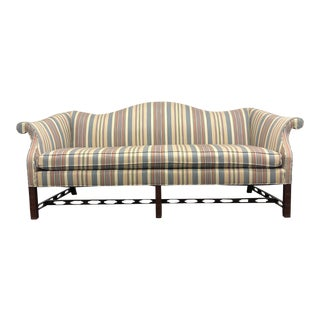 Hickory Chair Co Chippendale Camel Back Sofa For Sale