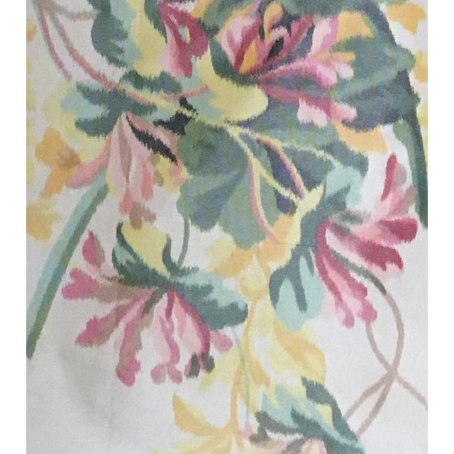 Moving Sale - Make an Offer - Everything Must Go - Silk Floral Taffeta Fabric - 1.5+ Yards For Sale - Image 4 of 5