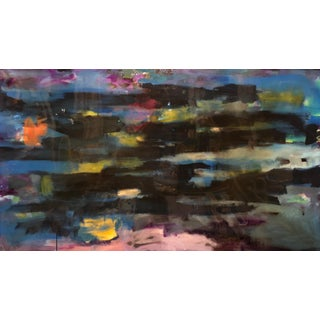 Abstract Acrylic and Resin Painting For Sale