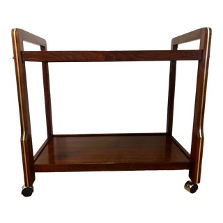 1960s Danish Mid Century Modern Rosewood Bar Cart For Sale