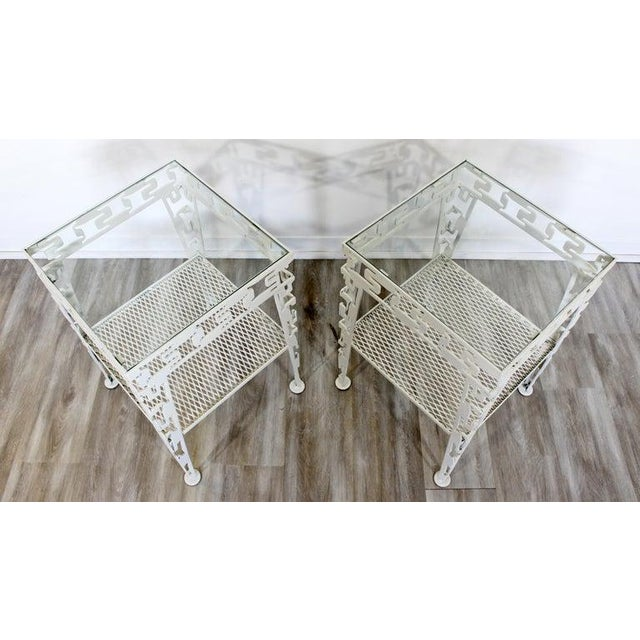 Mid-Century Modern White Set of Patio Tables Coffee Pair Side For Sale - Image 10 of 12