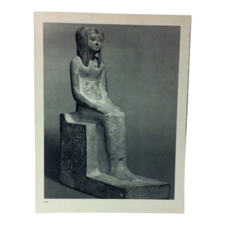 """Circa 1970 """"The Ka of Pharaoh Hor"""" Great Sculpture of Ancient Egypt Print For Sale"""