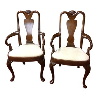 1990s Hickory Chair Mahogany Arm Chairs - a Pair For Sale