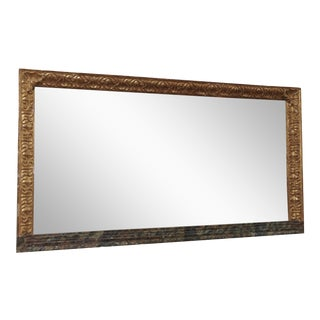 A 19th Century Italian Giltwood Horizontal Mirror For Sale