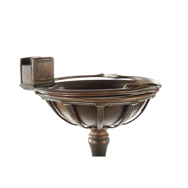 Tiffany Studios Art Nouveau Bronze Ashtray on Stand - Image 3 of 9