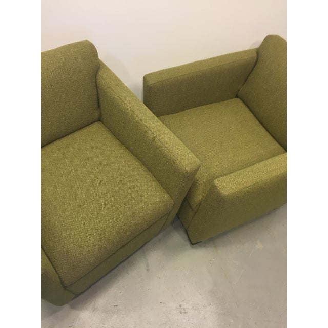 Green Club Chairs - Pair - Image 6 of 7