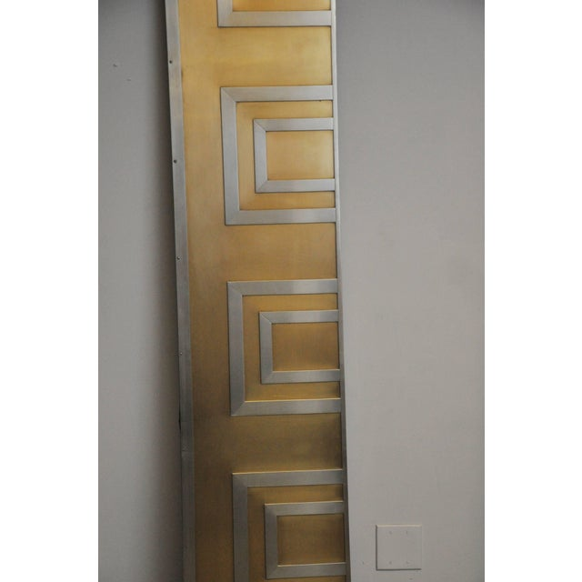 1970s Glamorous Bronze and Stainless Entry Doors For Sale - Image 5 of 8