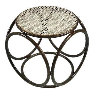 Bentwood and Cane Footstool