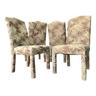 Vintage Palm Beach Parson Chairs - Set of 4 For Sale