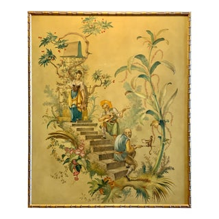 Hand Painted Chinoiserie Panel For Sale