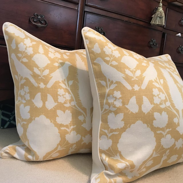 Contemporary Schumacher Chenonceau Linen Pillows - A Pair For Sale - Image 3 of 7