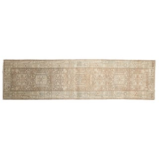 "Vintage Distressed Karaja Rug Runner - 2'6"" X 9'1"""