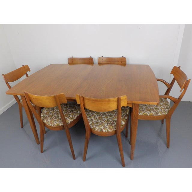 Tremendous find. Super Condition. Kipp Stewart for Drexel Declaration Walnut Dining Set. Very minimal wear. Beautiful warm...