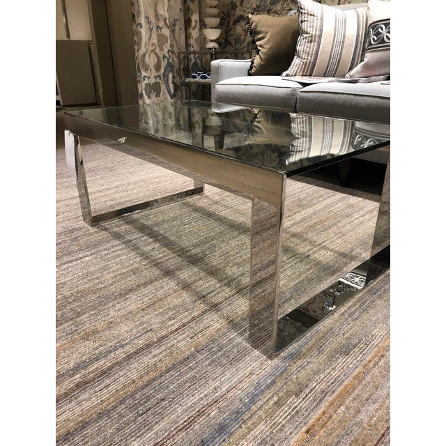 Contemporary Scalamandre Contemporary Glass Top Cocktail Table For Sale - Image 3 of 4