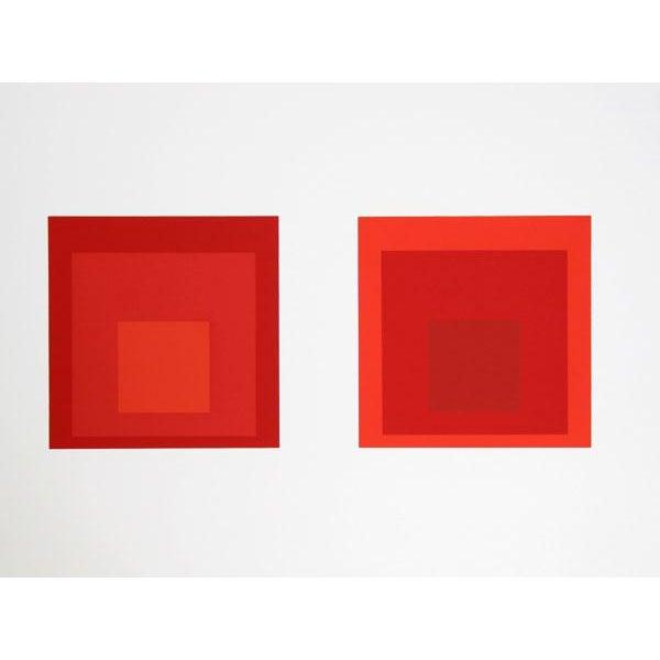 Abstract Expressionism Josef Albers - Portfolio 2, Folder 27, Image 2 Framed Silkscreen For Sale - Image 3 of 4