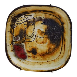 1970s Puerto Rico Studio Art Pottery Wall Hanging by Susana Espinosa For Sale