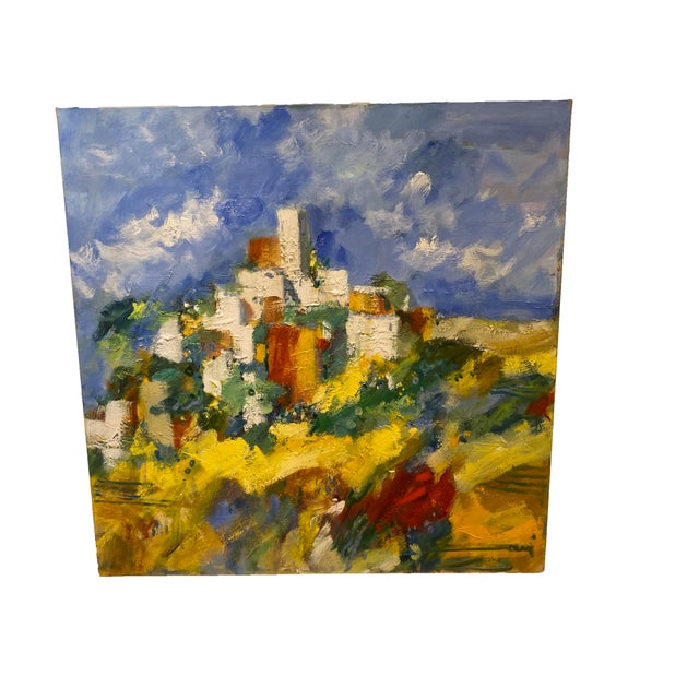 """19th Century 19th Century French Painting """"Gents a St Cezaire"""" For Sale - Image 5 of 6"""