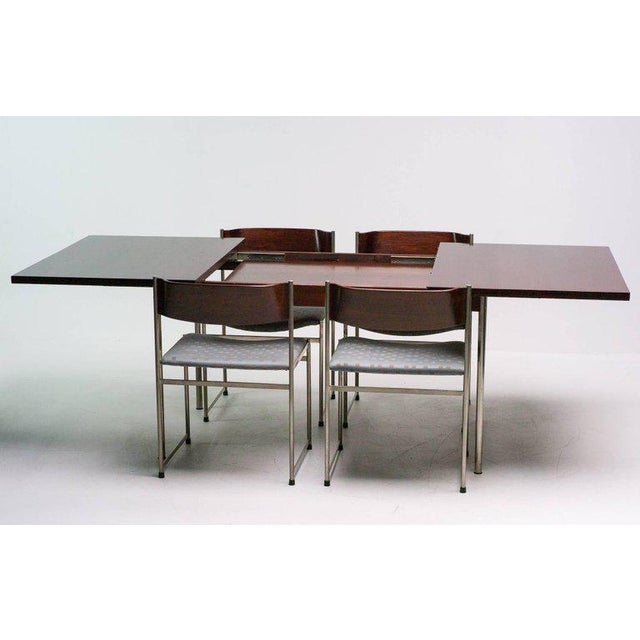 UMS Pastoe Rosewood Dining Set by Cees Braakman for Pastoe For Sale - Image 4 of 10
