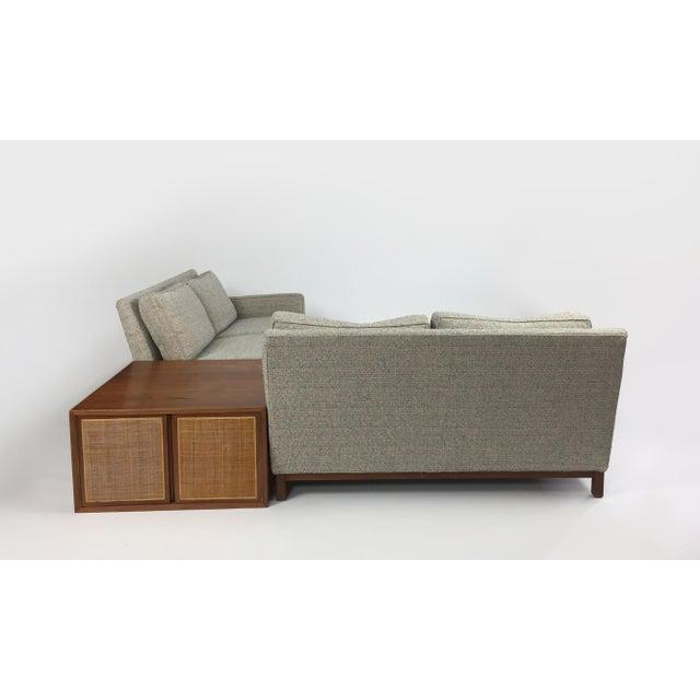 Henredon Henredon Sectional Sofa With Corner Storage Case For Sale - Image 4 of 9