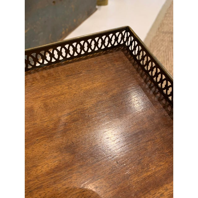 Wood 1940s Traditional Side/Coffee Table With Brass Gallery For Sale - Image 7 of 10