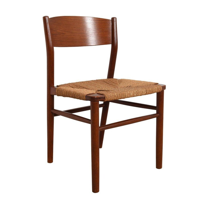 We are pleased to offer this magnificent set of 10 Danish Modern dining chairs, designed in teak by Borge Mogensen for...