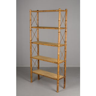 Mid-Century French Bamboo & Rattan Etagere Preview